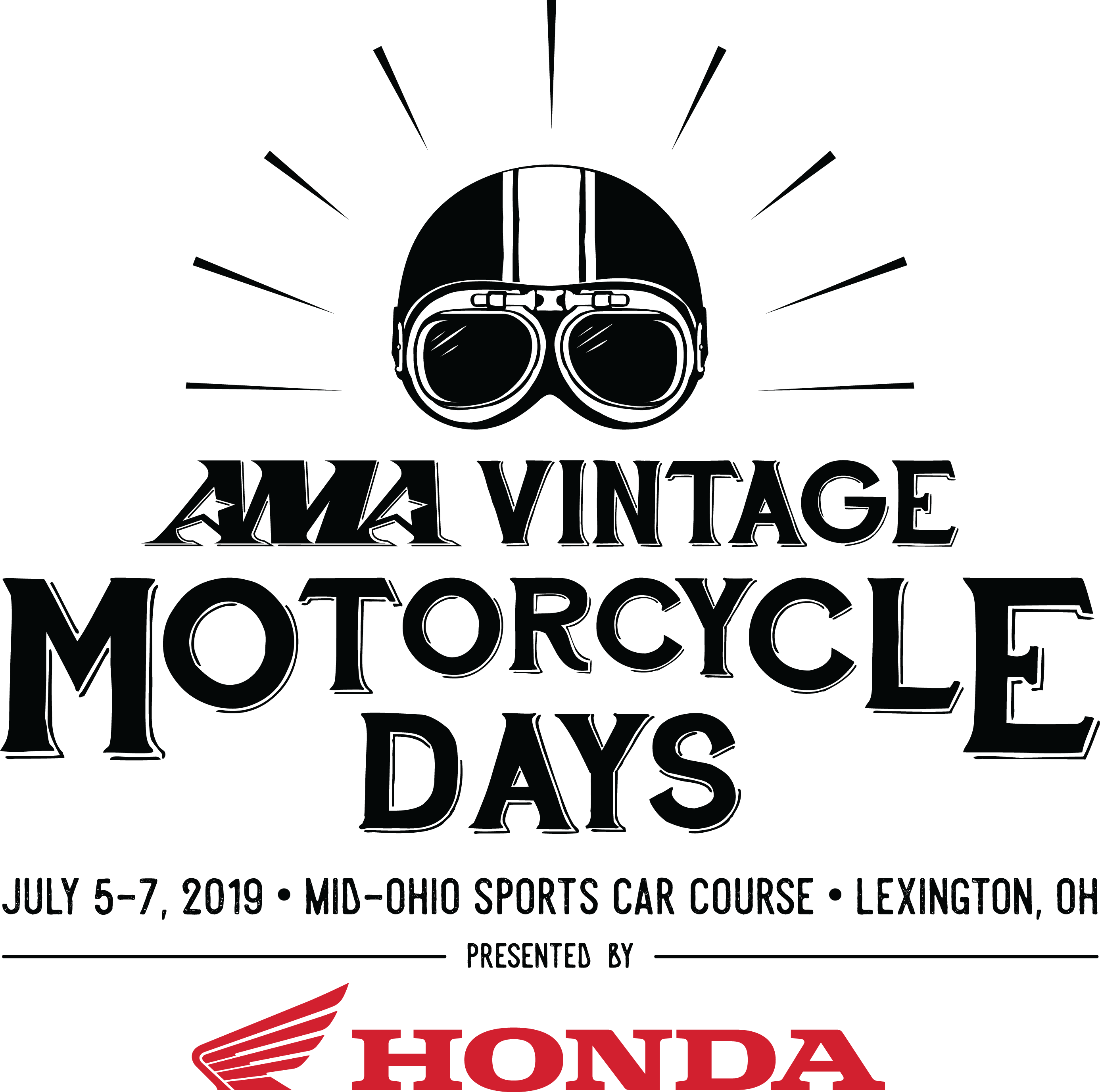 AMA Vintage Motorcycle Days Presented by Honda Logo