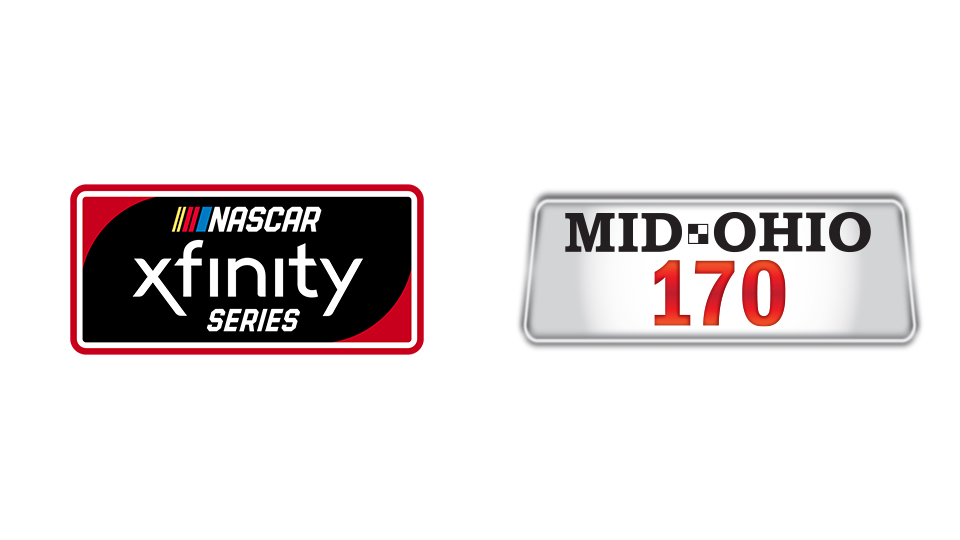 NASCAR Xfinity Series and Mid-Ohio 170 logos