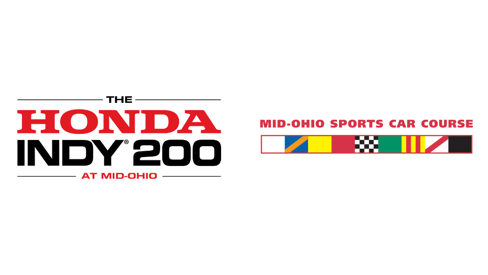 The Honda Indy 200 and Mid-Ohio Sports Car Course logos