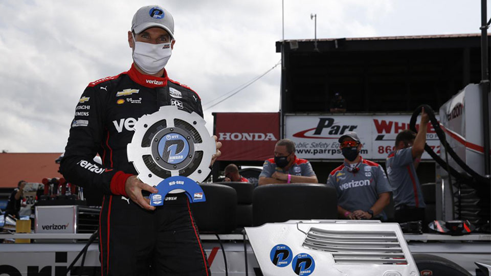 Will Power wins the pole for race 1 at the Honda Indy 200 at Mid-Ohio
