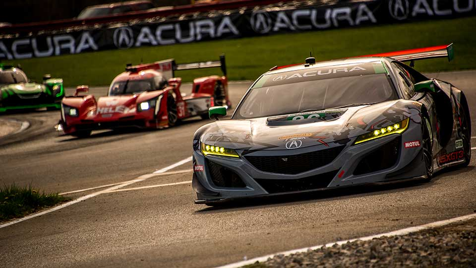 WeatherTech Championship Cars race around Mid-Ohio Sports Car Course