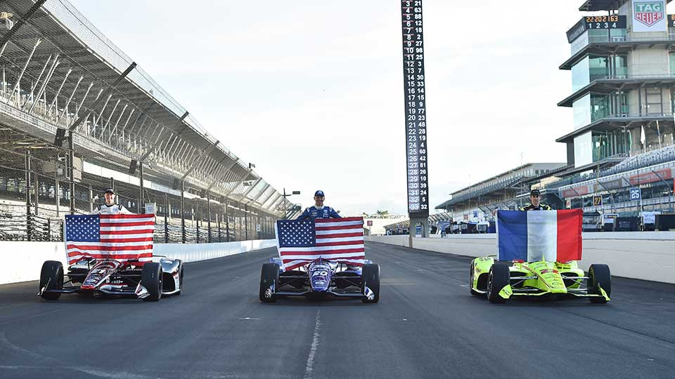 Starting row of the 2019 Indy 500
