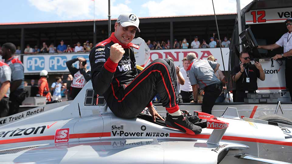 Will Power wins the P1 award at Mid-Ohio Sports Car Course