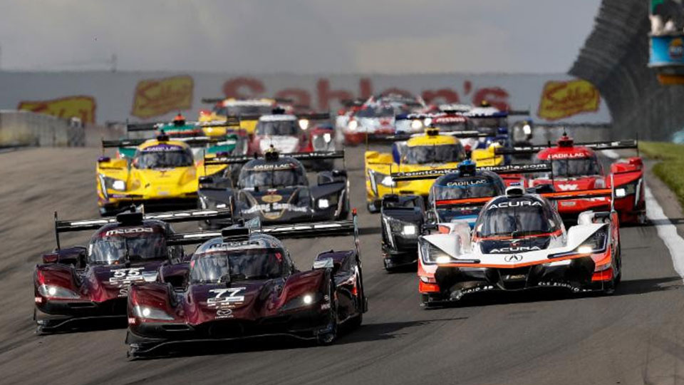IMSA WeatherTech Series cars on track