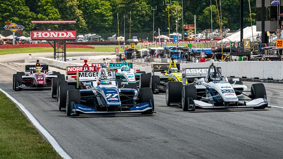 Indy Lights on track at the Mid-Ohio Sports Car Course
