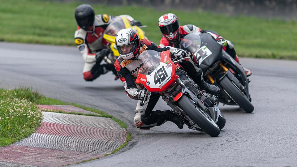 Vintage Motorcycles on track at Mid-Ohio Sports Car Course