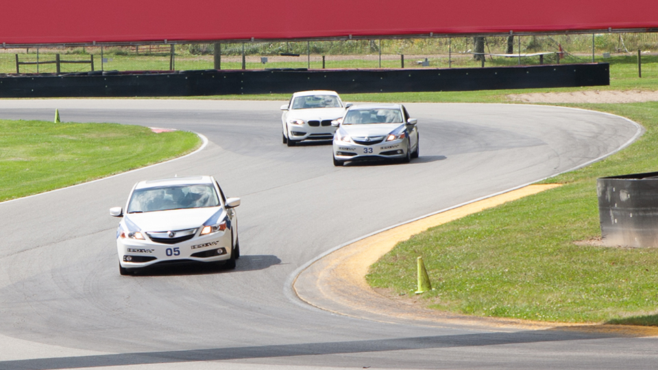 The Mid-Ohio School cars on track