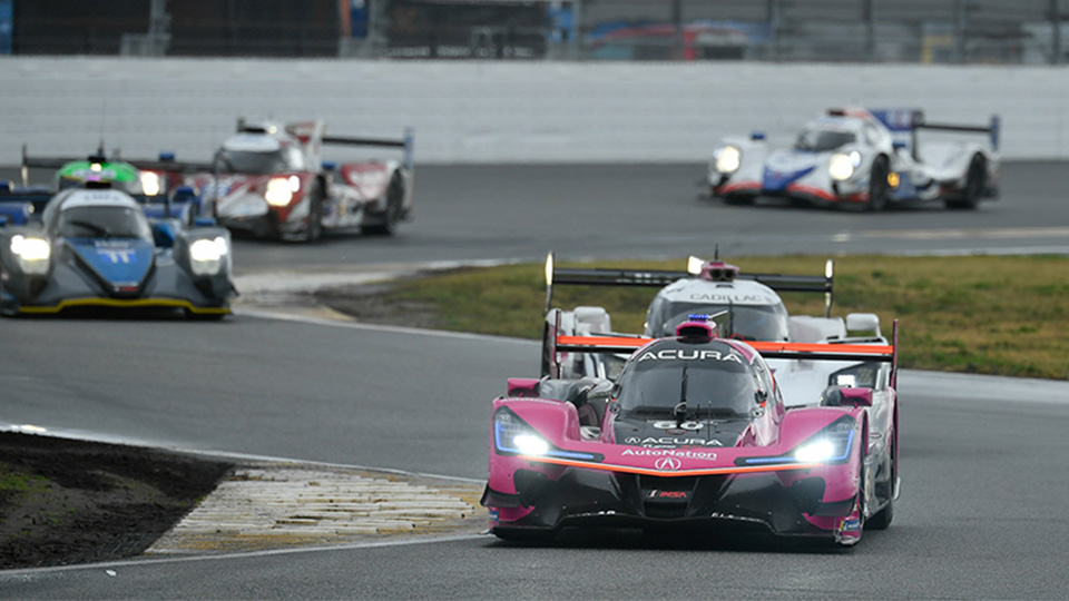 IMSA WeatherTech DPi cars on track at Daytona International Speedway