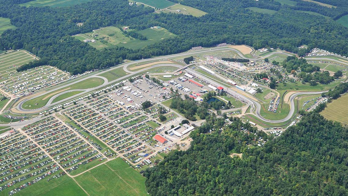 Aerial view of Mid-Ohio Sports Car Course