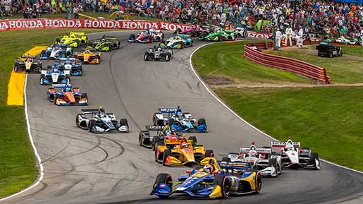 Indy cars race through Mid-Ohio