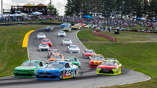 NASCARs race through the Mid-Ohio Sports Car Course